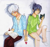 Shion + Nezumi for Redrose1598 by Checker-Bee