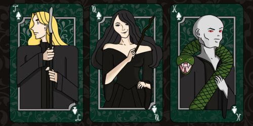 Harry Potter Villains Cards by Aysel-iReth