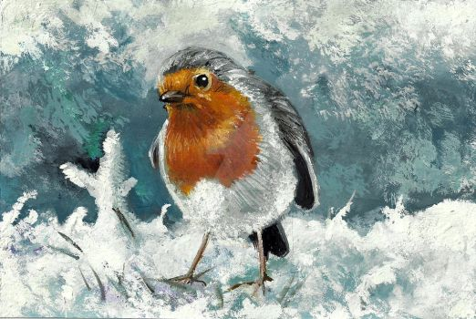 Christmas Robin by Catching-Smoke