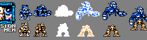 Fusion Men Sprites by splendidland