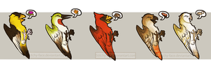 TWEETERS -Stickers! by Stitchy-Face