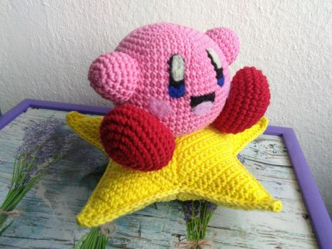 Kirby Riding On A Star by SkippyWhoopy