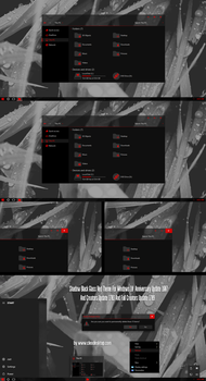 Shadow Black Glass Red Theme Win10 Fall Creators by Cleodesktop