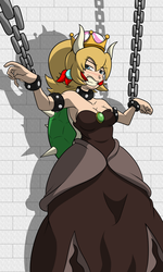Collab: Chained Up Bowsette by BoundLightning