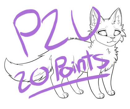 P2U Feline line art / base by Mythic-Flame
