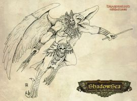 Shadowsea Axibalan eaglewarrio by melvindevoor