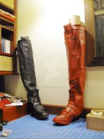 arkham city harley quinn boots by hollymessinger
