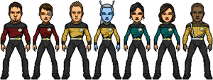 The Crew of the USS Filomina NX-91926 by SpiderTrekfan616