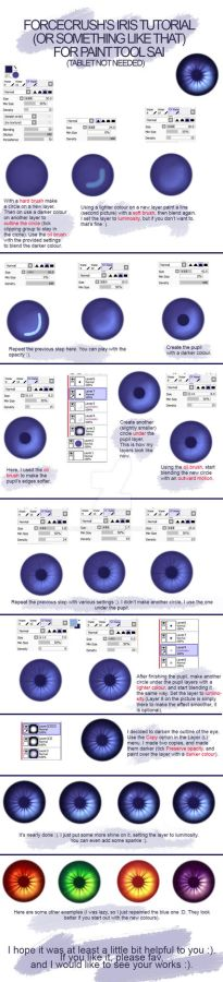 Eye (iris) tutorial for mouse users (SAI)