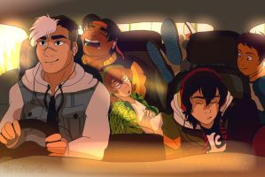 Voltron Road trip Part 1 by NiftyNightOwl