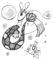 Inktober 2017 Milotic by papersak
