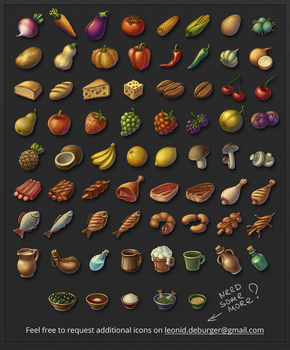 RPG Food Icon Pack by leonid-deburger