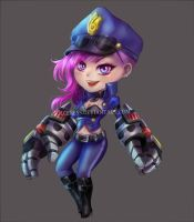 Officer Vi from League of Legends LOL by Solceress