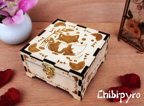 Wooden Box Fox by ChibiPyro