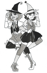 Inktober day 29: Double + Idol Witch by Dalblauw