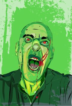 Self Portrait Zombified by GaryStearly