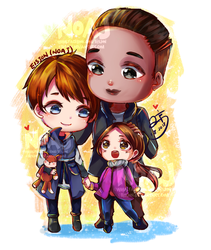 Family Kara Alice and Luther by eisjon