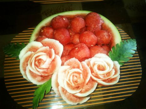 Watermelon Rose Bowl by AmaranthLevana