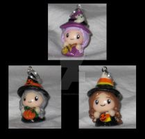 3 Little Witches Charm OOAK by Lisas-Art-Endeavors