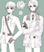 Axis Power Hetalia US UK by zamarok
