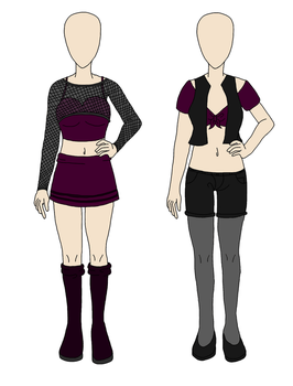 [Custom] Dark Sexy Outfits by icerose05