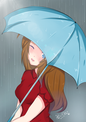 Girl with Umbrella by isi-chisi