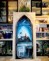 Portal to Hogwarts... by WormholePaintings