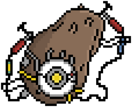 GLaDOS - Potato - Pixel Art by The-enigmatic-Horse