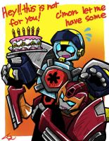 Rodimus want a cake by Colza666