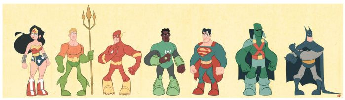 The Justice League by DaveBardin