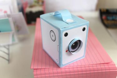Papercraft paper camera design by perfectnoseclub