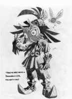 Skull Kid sporting Majora's Mask by AaronHenn-M