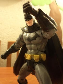 Batman Black and Grey repaint by Argahal