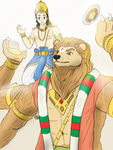 Narasimha and Prahlada - Lionheart rising by VachalenXEON