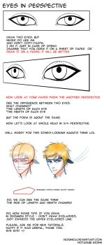 Eyes in perspective by Hotarubi-Kyoshi