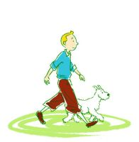 Tintin and Snowy by Anaeolist
