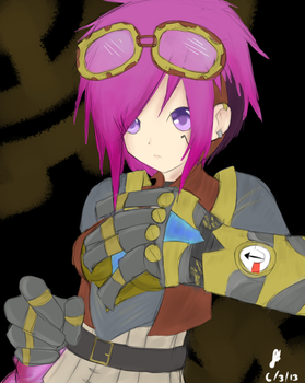 League of Legends: Vi the Piltover Enforcer by TheMuteMagician
