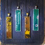 Circuit Board Pendants - Pencil Width by Llyzabeth