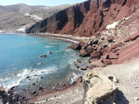 Red Sand Beach by Guadisaves02