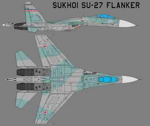 Su-27 Flanker - Yugoslav Air Force by Sgt-Turbo