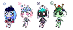 1/4 REDUCED  Gummy Ghoul Batch #1 by Rikos-Adopts