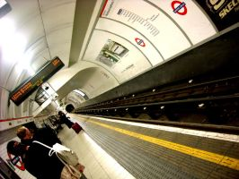Waiting for the tube by Living-Life-Loud
