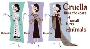Cruella's Coats by BetterthanBunnies