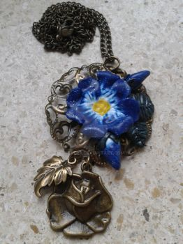 Blue Flower Pendant by Inevera