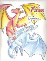 Sylaine and Firen by wispywaffle