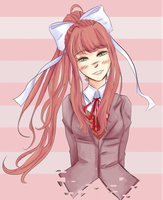 [Patreon Raffle] #2 Just Monika {GIF} by AxolotlAnne