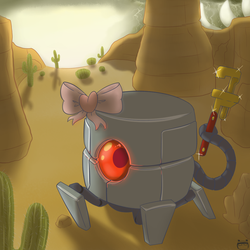 Nuclear Throne - Robot by SpoonSauce