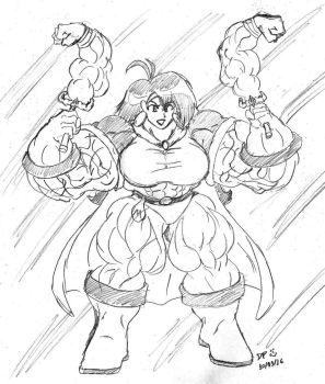 Double Muscularyarm MagiSwords by MightyKnightBR