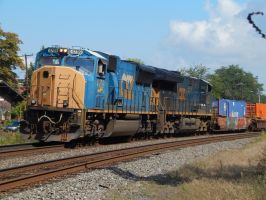CSX SD70AC #4709 by Tracksidegorilla1