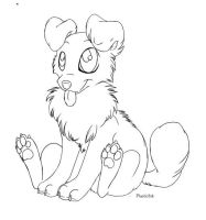 Puppy lineart by PlasticInk